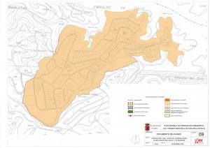 Plano de la primera fase de los lagos del serrano